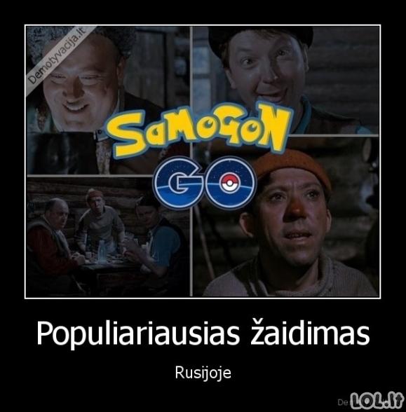 Pokemonų gaudymas Rusijoje