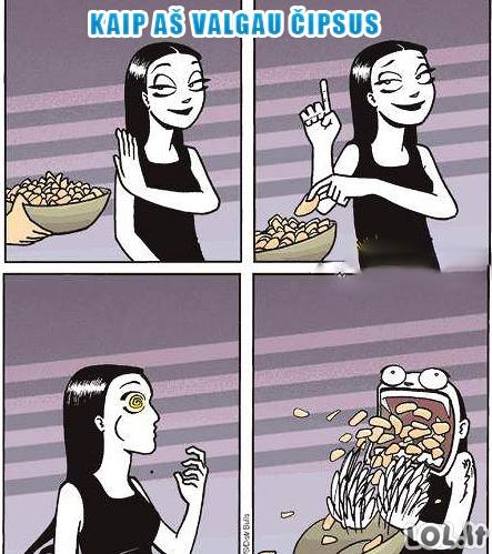 Čipsų valgymo tradicijos