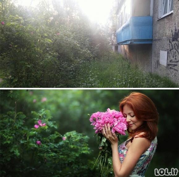 Kaip tą pačią vietą matome mes ir profesionalūs fotografai