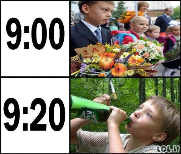 Rugsėjo pirmosios tvarkaraštis