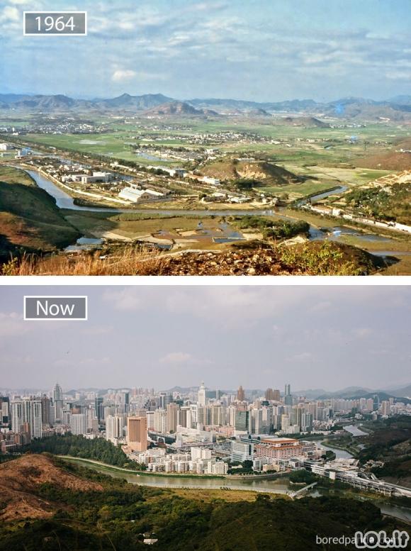 Miestai: anksčiau ir dabar [20 FOTO]