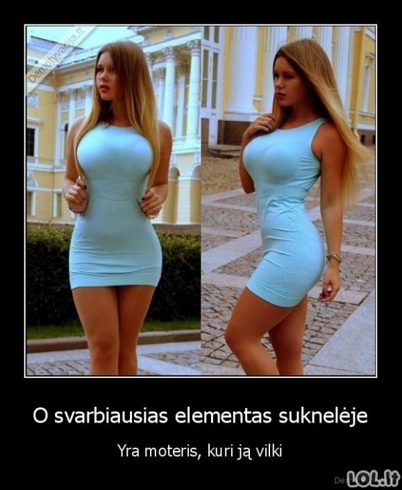 Didžiausia suknelės puošmena