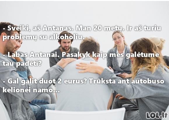 Anoniminių alkoholikų susitikimas