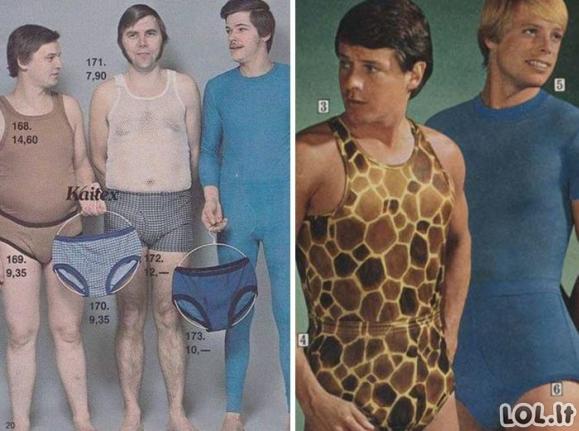 Vyrų mados prieš 50 metų