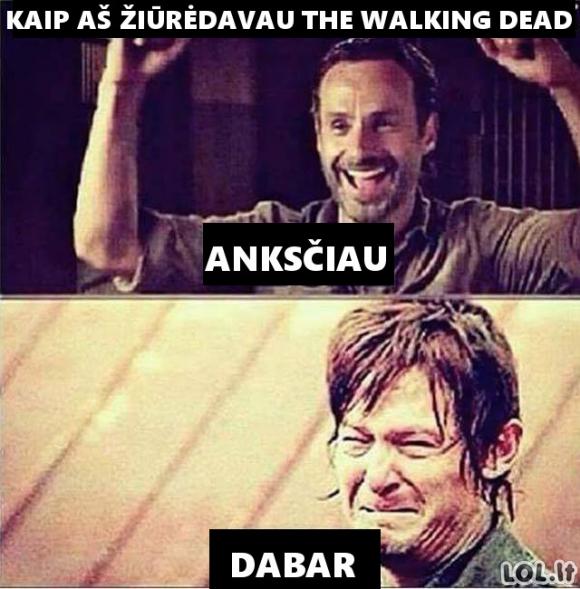 """Kaip aš žiūriu """"The Walking Dead"""""""