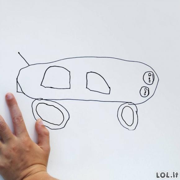 Tėvas paverčia 6-mečio sūnaus piešinius realybe
