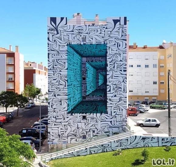 Įspūdingiausi gatvės meno darbai