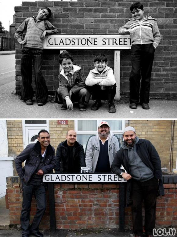 Žmonės: prieš ir po keliasdešimt metų