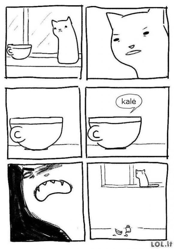 Piktas puodelis
