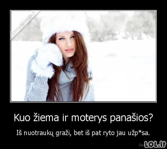 Žiema ir moterys