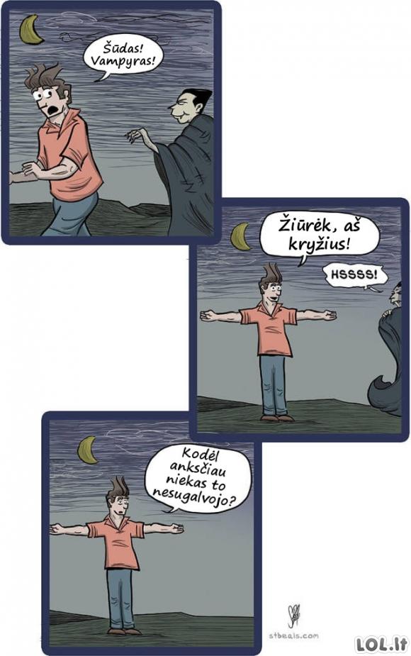 Kaip nubaidyti vampyrą
