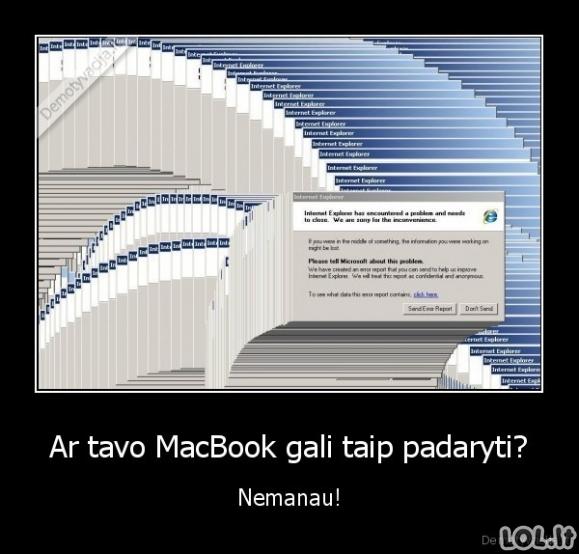 Macbookas negali