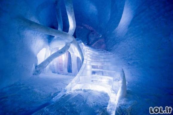 Įspūdingas ledo viešbutis