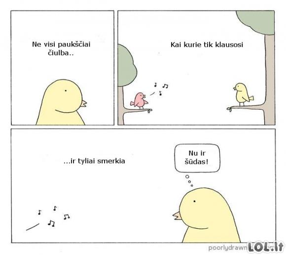Tylus paukštukas
