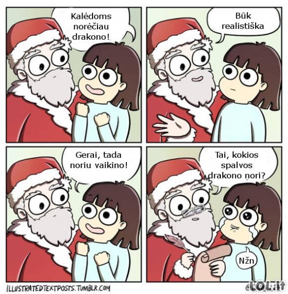 Mergaitės Kalėdinis noras