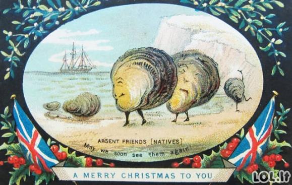 Šiurpios senovinės Kalėdinės atvirutės
