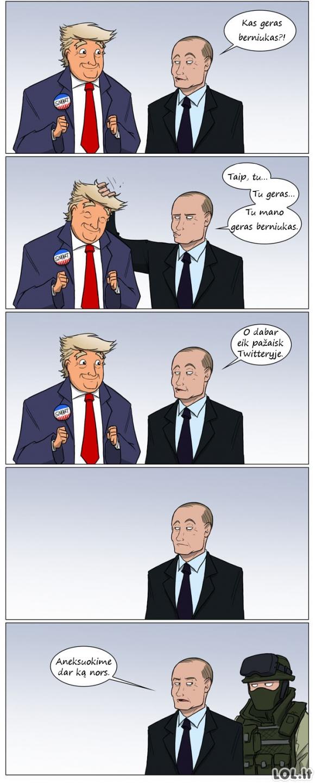 Kaip Putinas žaidė su Trumpu...