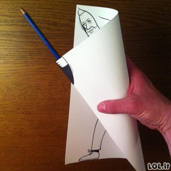 3D menas iš popieriaus
