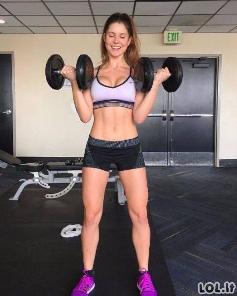Karštos, stiprios ir atletiškos sportukės