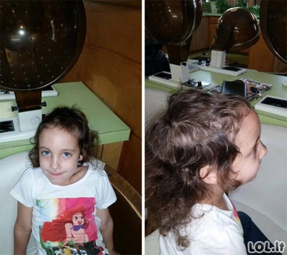 Kai vaikai nusprendžia patys save apsikirpti