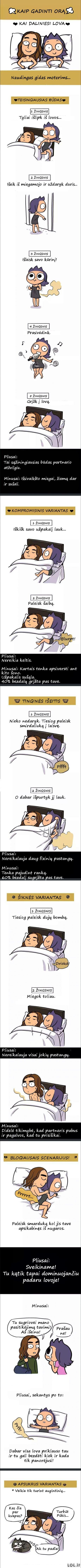 Kaip teisingai gadinti orą miegant su vaikinu?
