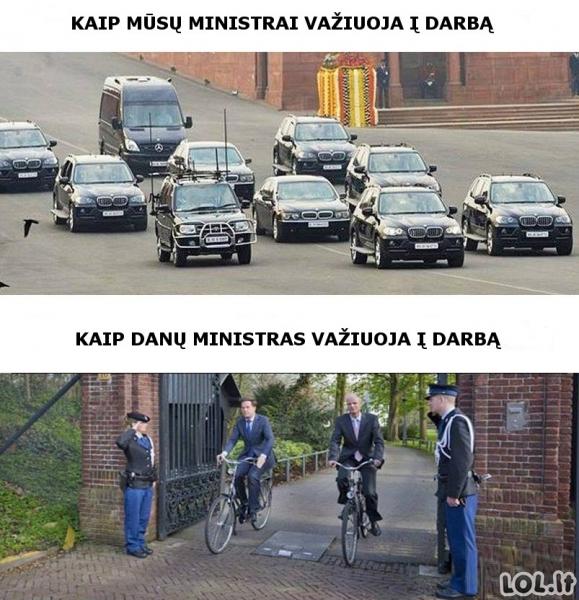 Ministrų skirtumai