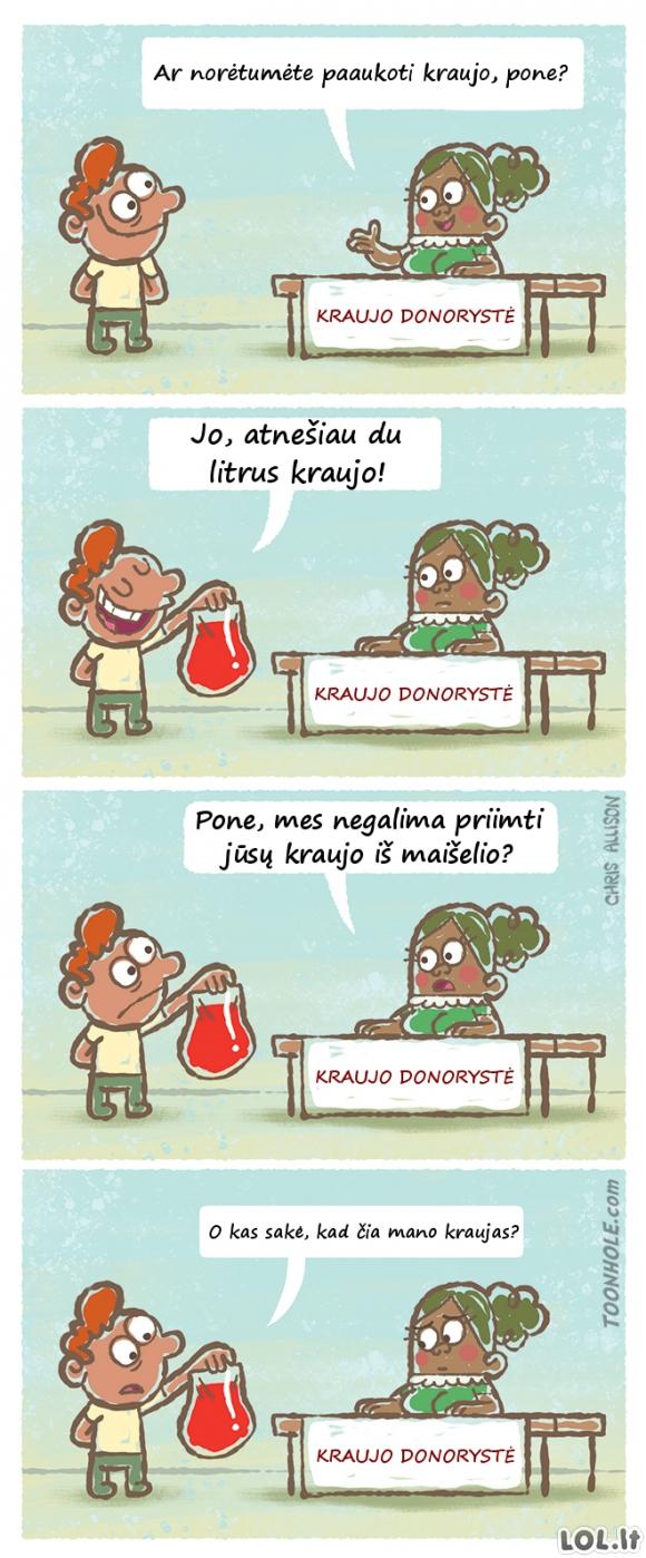 Dosnus kraujo donoras