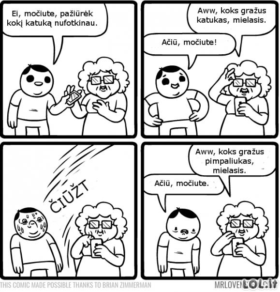 Labai išmani močiutė