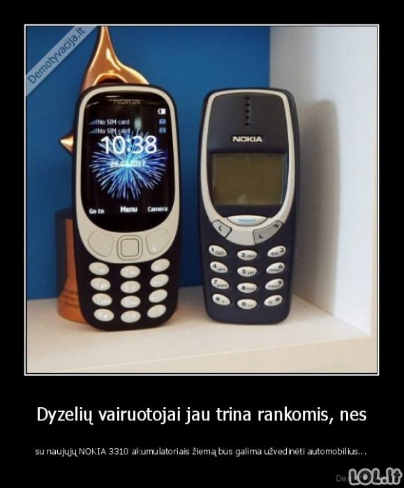 Nokia 3310 galimybės