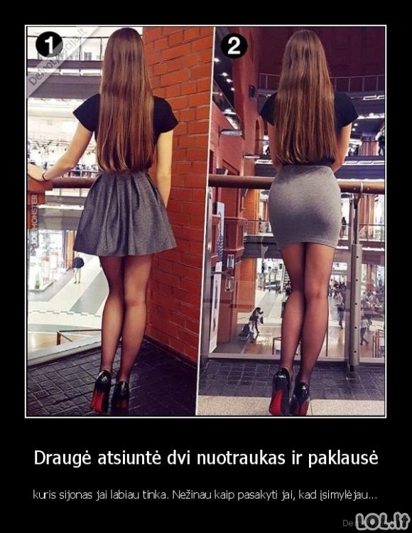 Kuris sijonas labiau tinka?
