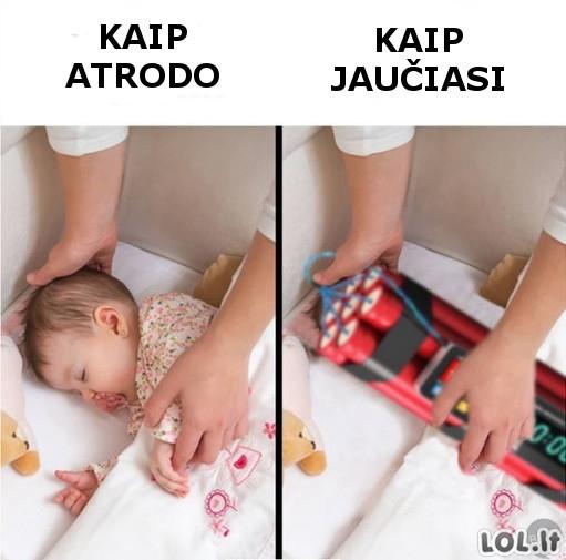 Problemos su kūdikiais