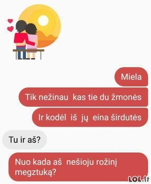 Kai mergina nelabai romantiška