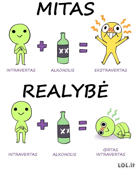 Mitai ir realybė apie intravertus