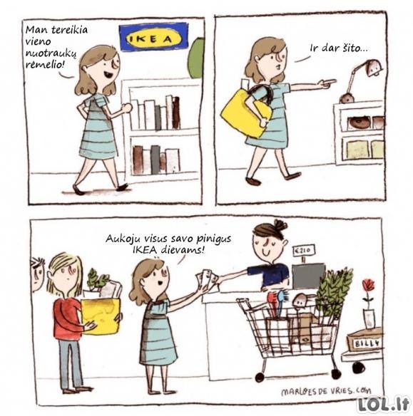Kaip kaskart baigiasi mano apsilankymai IKEA