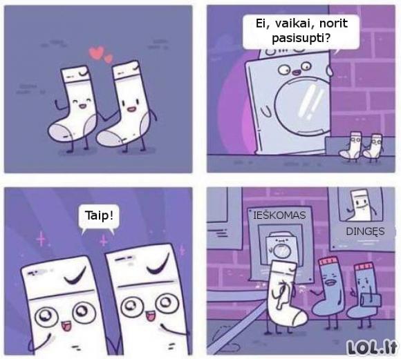 Kaip pradingsta kojinės?