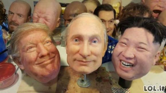 Itin realistiškos pasaulio lyderių kaukės