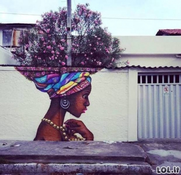Kai gamta ir gatvės menas susivienija