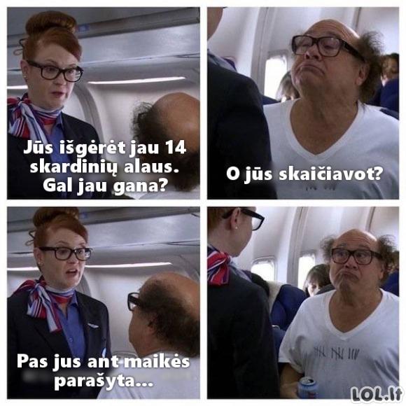 Kai geri lėktuve