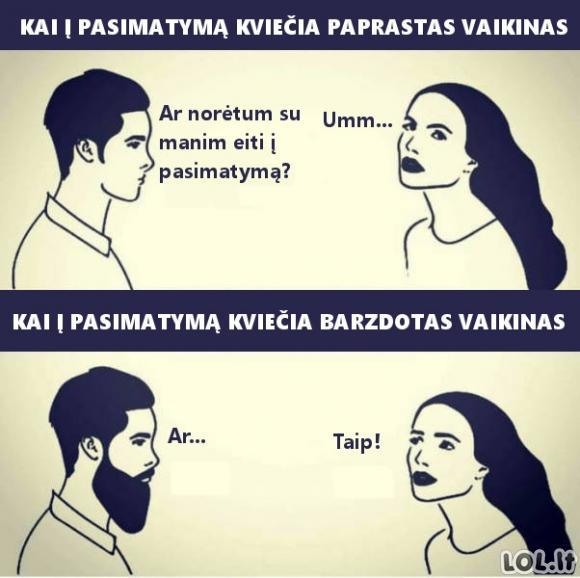 Barzdotų vyrų pranašumai