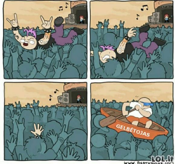 Roko koncerto problemos