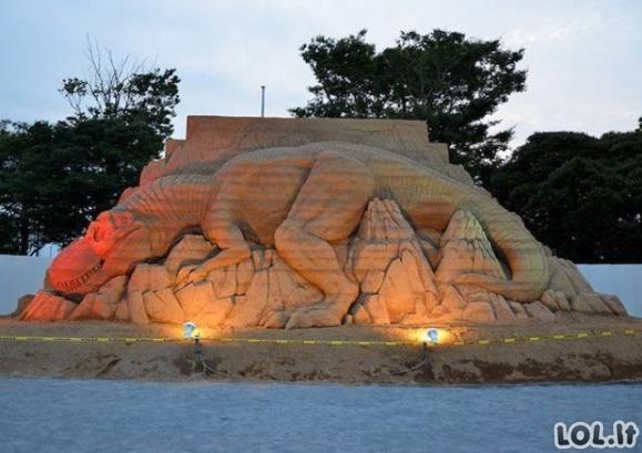Neįtikėtinos skulptūros iš smėlio