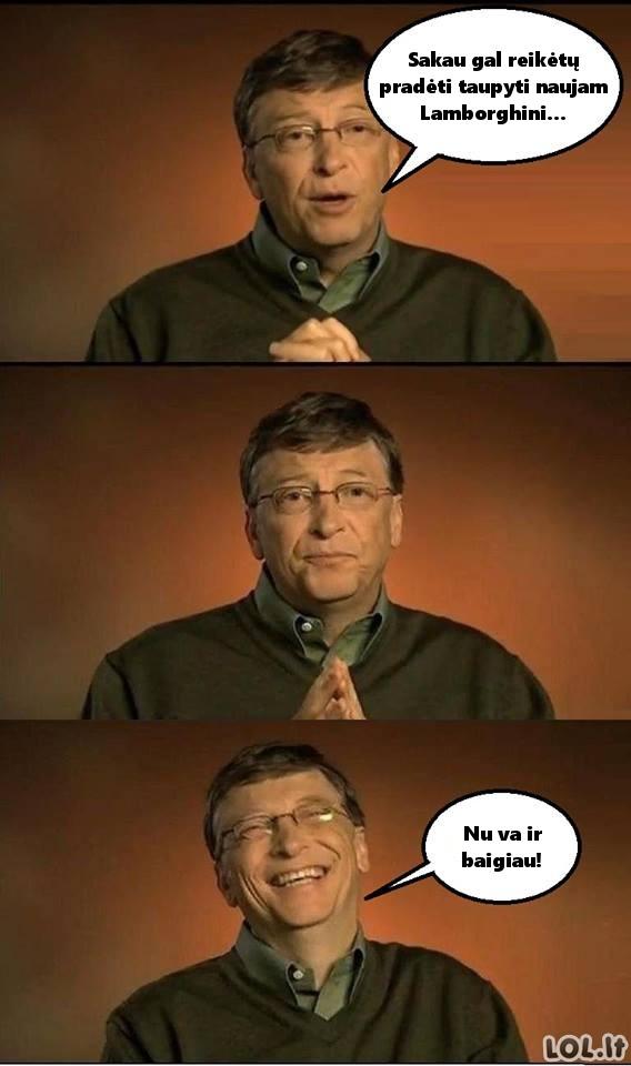 Bilo Geitso taupymo planas