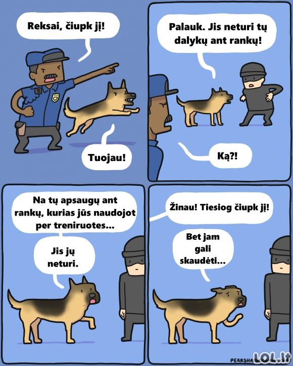 Sumišęs policijos šuo