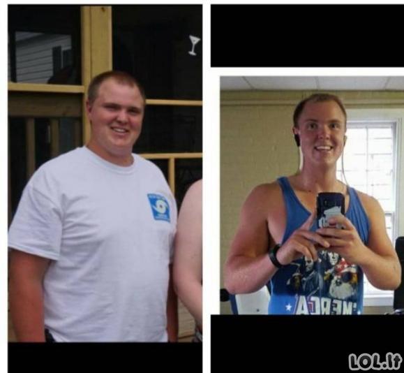 Neįtikėtinos svorio metimo transformacijos