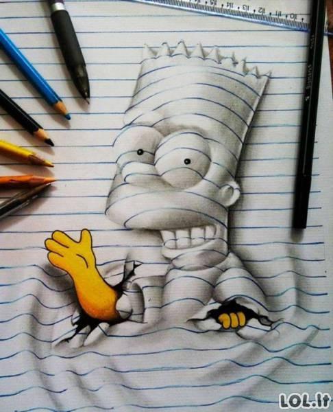 17-metis per pamokas vietoj to, kad mokytųsi, piešdavo 3D piešinius [GALERIJA]