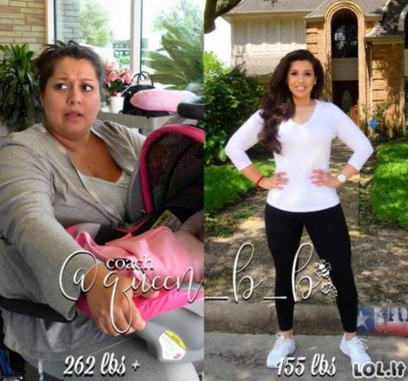 Palikta vyro žmona numetė pusę savo svorio ir privertė jį gailėtis