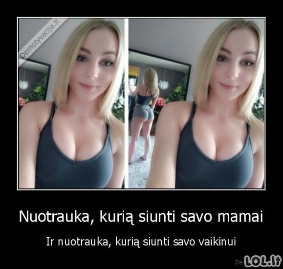 Dvi merginos nuotraukos