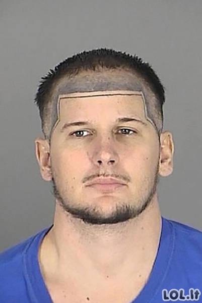 Įspūdingiausi policijos sulaikyti šukuosenų savininkai