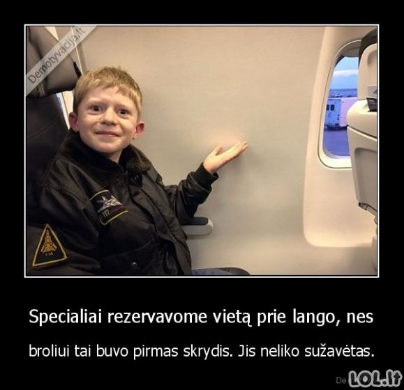 Nepamirštamas skrydis lėktuvu