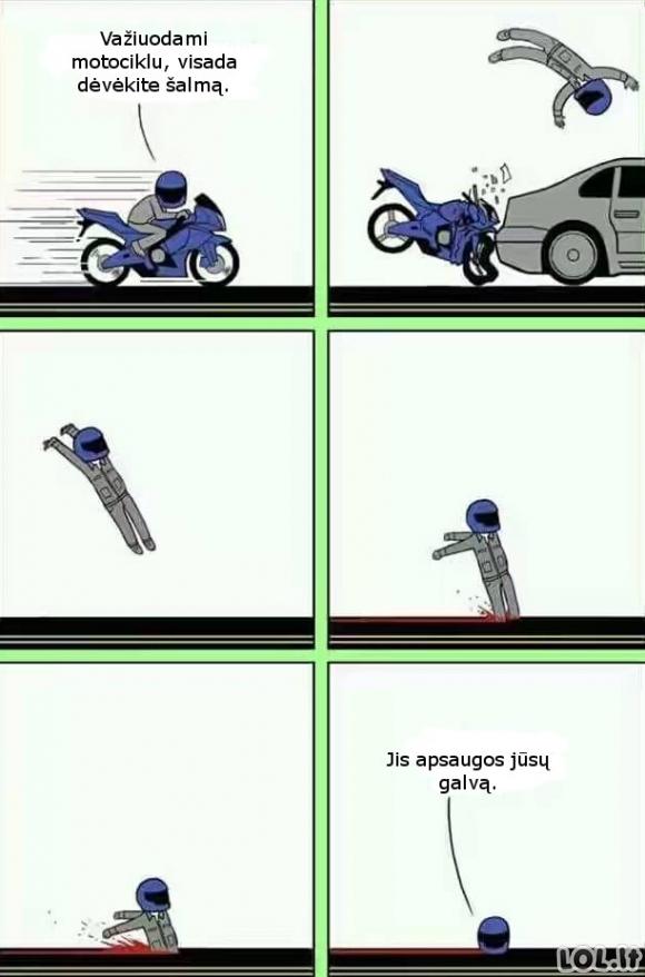 Motociklininko šalmas